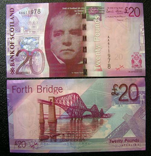 Bank of Scotland Twenty Pound Note / £20 note